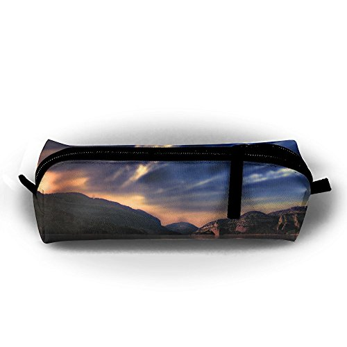 Alone Stationery Bag Pen Holder Pencil Pouch Cosmetic Lake Sunset Nature Office Supplies Coins Makeup Pouch Purse For Students]()