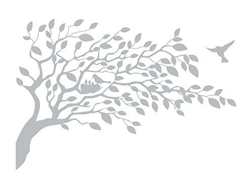 Coming Home Bird and Tree - Etched Decal - For Shower Doors, Glass Doors and Windows - 14.5