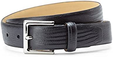 ISAACO Boys Silver Buckeled Belt Black