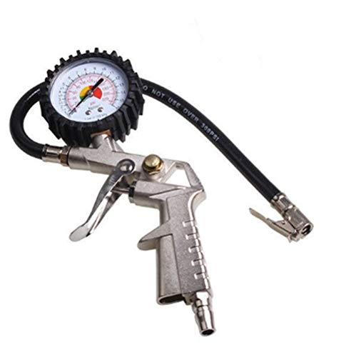 rik rik Air Pressure Gauge Hose 220 psi Lock On Tire Inflator Truck Car Motorcycle Bike