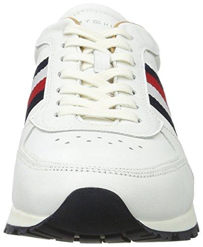 Tommy Hilfiger J2285uuso 1a3, Zapatillas para Hombre Blanco (White)