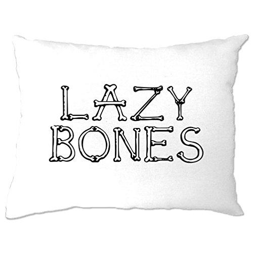 Lazy Bones Slogan Casual Halloween Pun Funny Slogan Cool Pillow (Mens Halloween Costume Ideas Last Minutes)