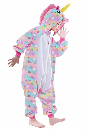 NEWCOSPLAY Unisex Children Unicorn Pyjamas Halloween Costume (5-Height 41-46'', Colorful) by NEWCOSPLAY (Image #2)