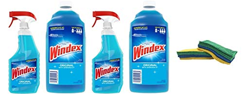 Windex Original Glass Cleaner Pack, Refill 67.6 fl oz + Trig