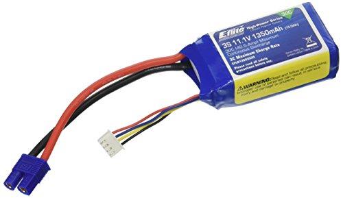 E-flite 1350mAh 3S 11.1V 30C LiPo, 13AWG: EC3, EFLB13503S30