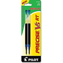 Pilot Precise V5 RT Liquid Ink Refill, 2-Pack for Retractable Rolling Ball Pens, Extra Fine Point, Blue Ink (77274)