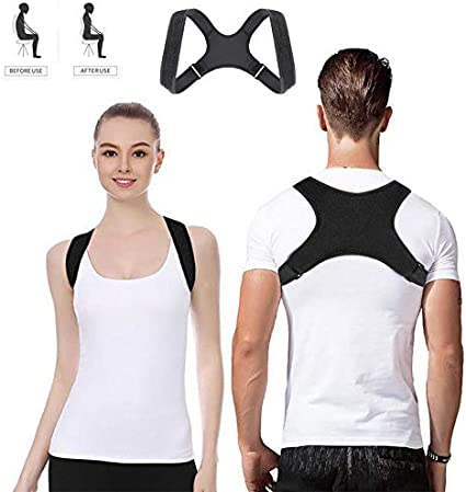 FeiLuo Corrector de Postura Cinturón de Corrección de Espalda, Alivia Eficazmente el Dolor de Espalda, Hombro y Cuello - Espalda Recta Soporte Correctores Ajustable para Hombre y Mujer