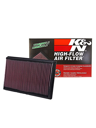 K&N 33-2247 High Performance Replacement Air Filter for 2002-2017 Dodge Ram V6/V8