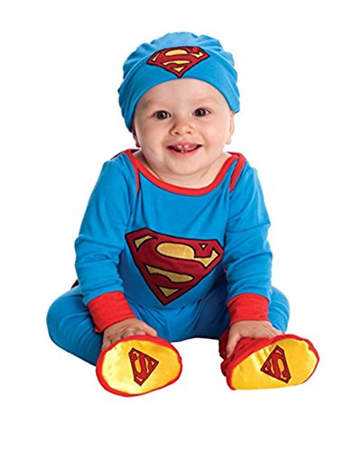 Superman Baby Outfit (Baby Superhero Onesie And Headpiece (6-12 Months, Superman))