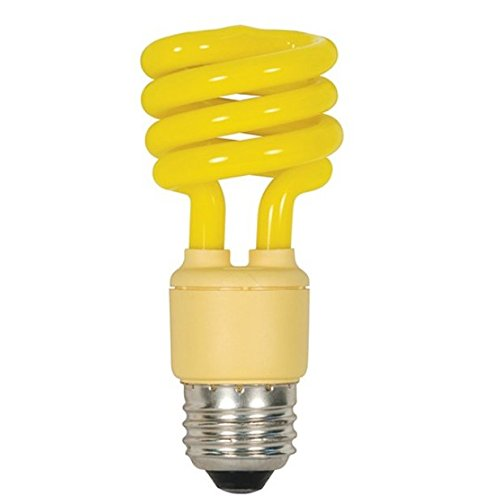 (Satco S5511 13 Watt T2 Mini Spiral Compact Fluorescent, Bug Yellow, Medium base (Pack of 10))