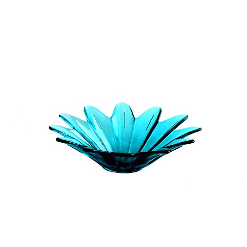 Glass Platter Home Decor - Couronne Company 7875G09 Daisy Recycled Glass Bowl, 7 3/4