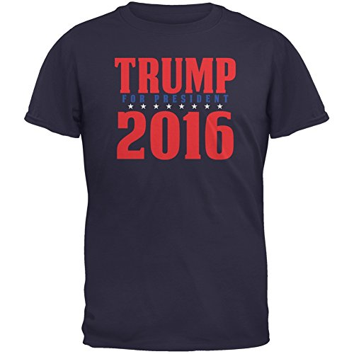 (Election 2016 Trump For President 2016 Stacked Navy Adult T-Shirt - X-Large)
