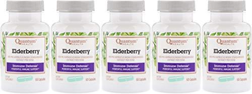 Quantum Health Elderberry Extract 400mg - 60 caps, 5 pack ()