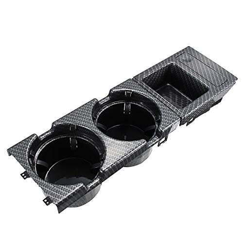 Viviance Carbon Fiber Center Console Drink Cup Coin Holder Box for BMW 3 Series E46 99-06