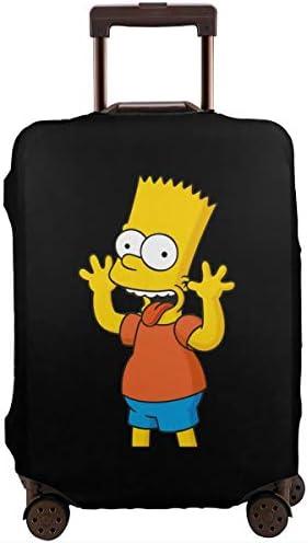 スーツケースカバー キャリーカバー シンプソンズ ラゲッジカバー トランクカバー 伸縮素材 かわいい 洗える トラベルダストカバー 荷物カバー 保護カバー 旅行 おしゃれ S M L XL 傷防止 防塵カバー 1枚