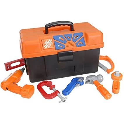 .com: home depot talking tool box / tool chest (toy): toys & games