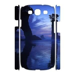 3D Sexyass Sunset Samsung Galaxy S3 Case Phantasmal Sunset, Funny Sunset, {White}
