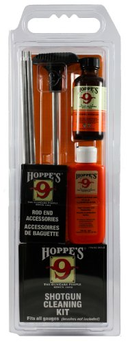 Hoppe's No. 9 Cleaning Kit with Aluminum Rod, Universal Shotgun, Clamshell