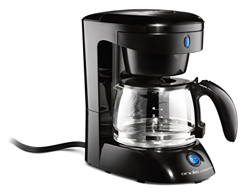 Andis 4-Cup Coffeemaker with Auto Shut-Off and Stainless Steel Crafte, Black (69045)