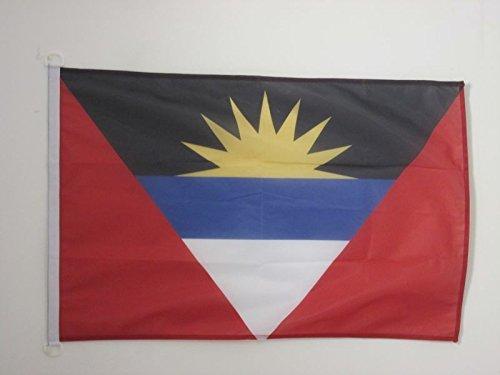AZ FLAG Antigua Barbuda Flag 3' x 5' External Use - Antiguan Barbudan Flags 90 x 150 cm - Banner 3x5 ft Knitted Polyester ()