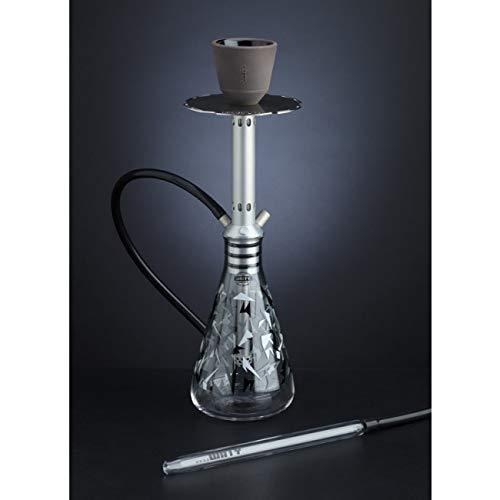 The Unity Pure Camo Glass (Military Style) Hookah - 1 Hose (Silver) (Hookah Unity)