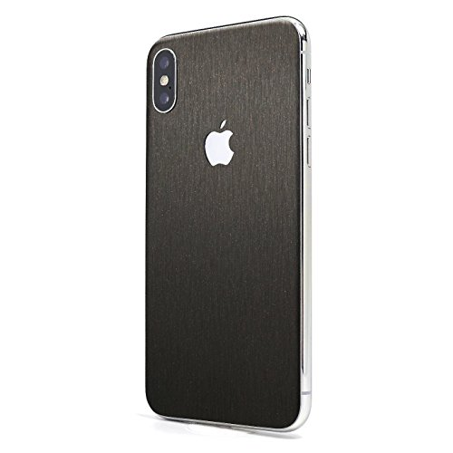 Brushed Space Gray Steel iPhone X GLASS PROTECTION Wrap by SKINTZ Durable Protection - Wrap Space