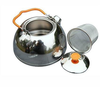 BRS agua hervidor de agua tetera de acero inoxidable de grado de alimentos para al aire libre Camping senderismo picnic SUNRIS