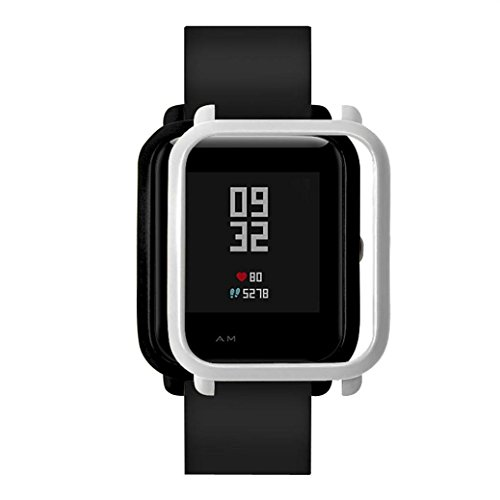 Price comparison product image Wondere Slim Colorful Frame PC Case Cover Protect Shell For Xiaomi Huami Amazfit Bip Younth Watch. (Sliver)