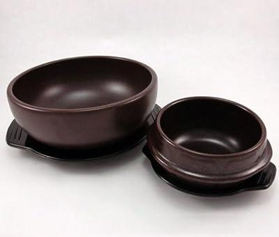 Crazy Korean Cooking Korean Stone Bowl (Dolsot), Sizzling Hot Pot for Bibimbap and Soup - Premium Ceramic