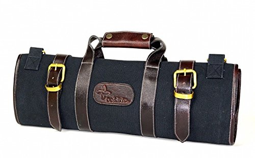 Boldric Canvas Knife Bag 17 Pocket - Black by Boldric