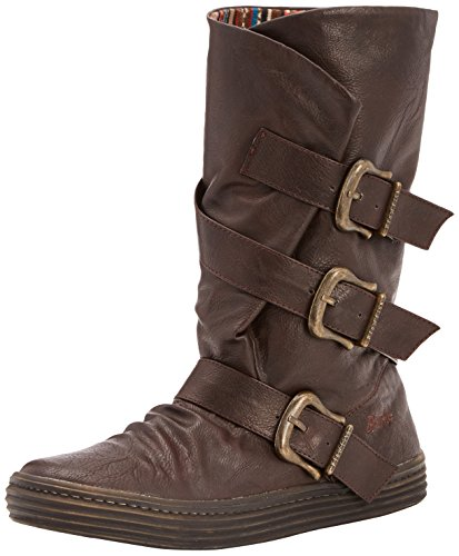 Buckle Chocolate Casual Snow Mid Blowfish Womens Calf Chocolate Winter Olin Boot vYXwHq