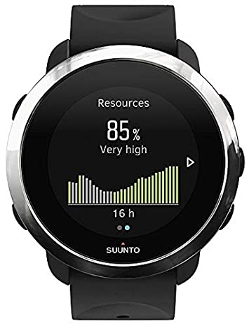 Suunto 3 Fitness Multisport Watch with Heart Rate Monitor and Wearable4U Power Pack Bundle Black