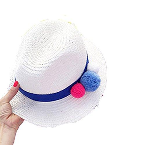 - Ablaze Jin beauty cute hair ball temperament wild lady sunshade hats hat straw hatshat travel,Beige,adjustable