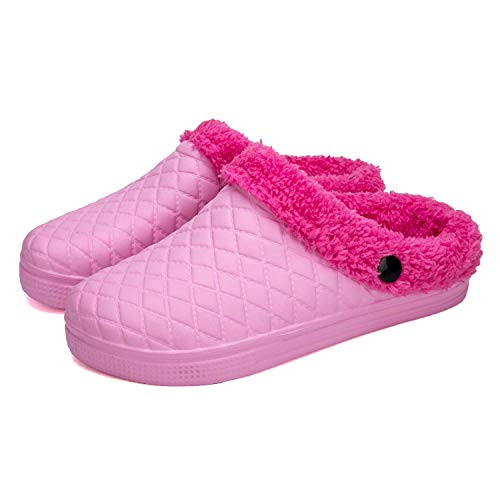 Pink Shoes Mules PHILDA House Winter Footwear Waterproof Men's Slippers Lined Women's Fur Clogs 78BHq
