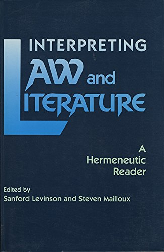 Image for publication on Interpreting Law and Literature: A Hermeneutic Reader