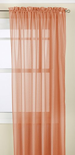 (LORRAINE HOME FASHIONS Reverie Tailored Window Panel, 60 by 63-Inch,)