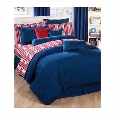 - American Denim Duvet Cover Size: King
