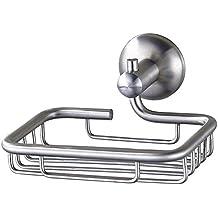Votamuta Soap Dish Bathroom Shower Toilet Soap Holder Saver Basket Wall Mounted , Brushed Nickel