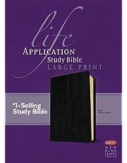 NKJV Life Application Study Bible, Second Edition, Large Print (Red Letter, Bonded Leather, Black)