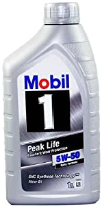 Mobil 1 106035 5W-50 Advanced Full Synthetic Motor Oil - 1 Quart (Pack of 6)