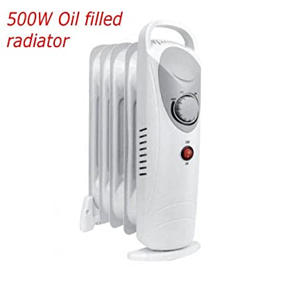 cc63e3b4f46 5 7 11 Fin 240V PORTABLE ELECTRIC OIL FILLED RADIATOR ELECTRIC CARAVAN  HEATER (5 Fin 500w White Mini Oil Filled Radiator)  Amazon.co.uk  Kitchen    Home