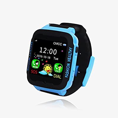 Rxyam Kids Smartwatch Learning Toy GPS Tracker Smart watch Phone, Support SIM card - Anti Lost SOS Calling - Children Activity Finder Fitness Tracker - Safety Monitor