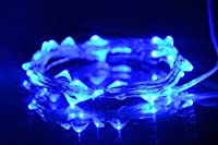 B.Y SLEF Copper Wire (Silver Coating) LED Starry Lights Battery Operated on 20/30/50Individual Leds strings (Blue 30LED)