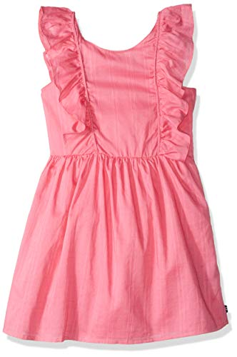 Nautica Little Girl's Short Sleeve Fashion Dress, Dobby Pink, 4 ()