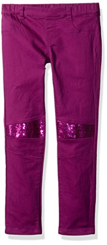 Crazy 8 Little Girls' Sparkle Moto Jeggings, Purple, 6 -