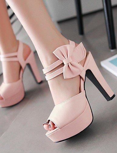 LFNLYX Zapatos de mujer-Tacón Robusto-Tacones / Punta Abierta / Comfort / Innovador / Botas a la Moda / Zapatos y Bolsos a Juego / Zapatillas- beige