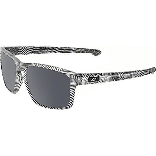Oakley Men's Sliver OO9262-04 Iridium Rectangular Sunglasses,White Fingerprint, 57 mm ()