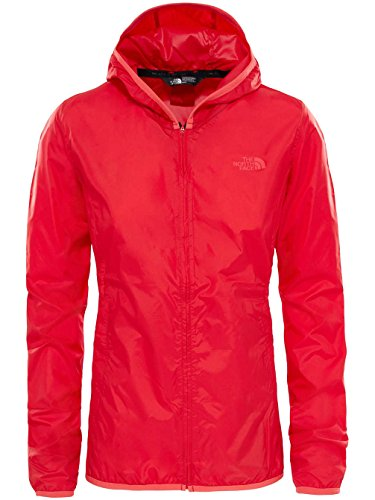 The North Face W Tanken Windwall Chaqueta, Mujer rojo (high risk red)