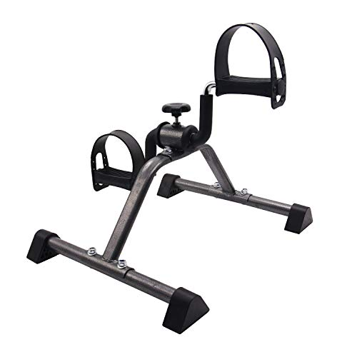 Friday discount Pedal Exerciser Portable Folding Exercise Bike Equipment Bicycle Exercise Machine for Arm,Legs, Physical Therapy Exercise for Home (Black)