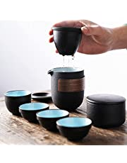 Small portable travel tea set set single express cup one pot six cups outdoor travel bag Kung Fu tea pot